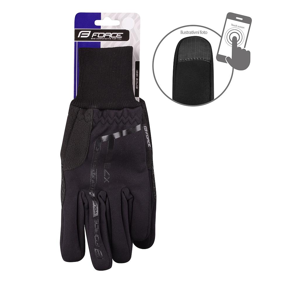 **FORCE X72 WINTER GLOVES BLACK S