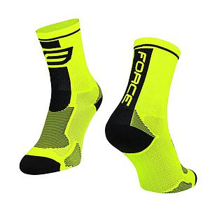 **FORCE LONG PLUS SOCKS BLACK/FLUO L/XL