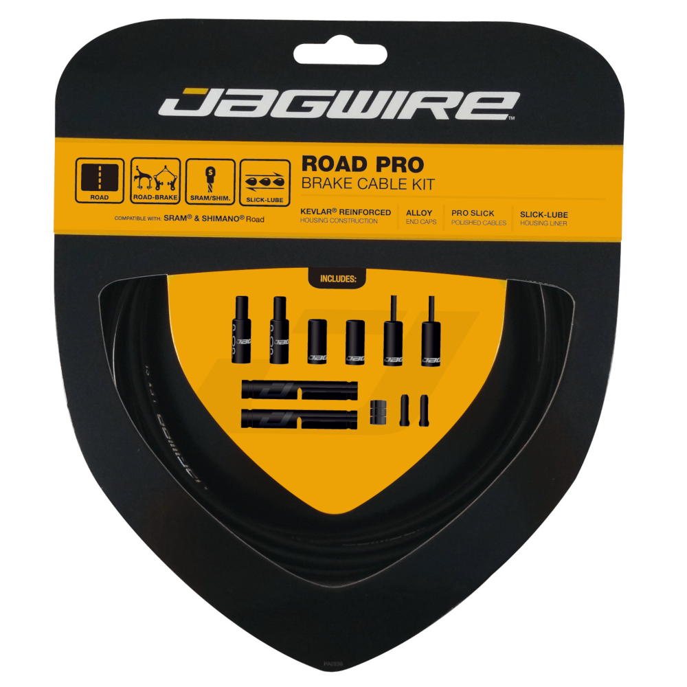 **JAGWIRE ROAD PRO BRAKE CABLE KIT STEALTH BLACK