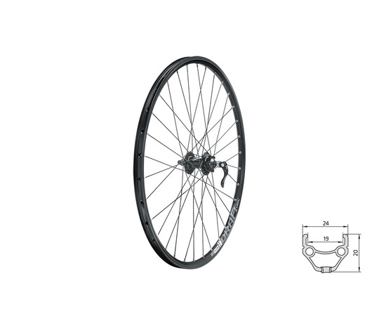 **KELLYS DRAFT DISC BRAKE  FRONT WHEEL BLACK 28/29""
