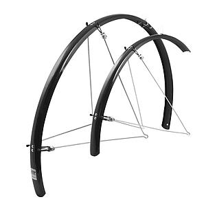 FORCE ROAD N/SECTION MUDGUARD PAIR 700 X 25 BLACK