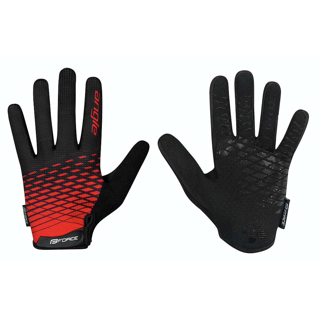 **FORCE ANGLE MTB SUMMER GLOVES SMALL BLACK/RED