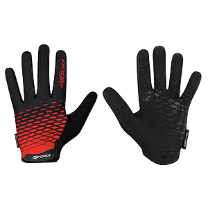**FORCE ANGLE MTB SUMMER GLOVES LARGE BLACK/RED