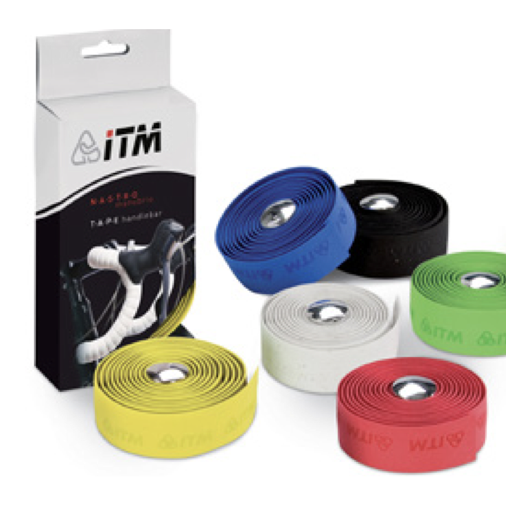 ITM CORK HANDLEBAR TAPE & PLUGS WHITE