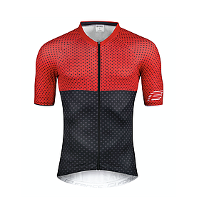 ** FORCE POINTS SHORT SLEEVE JERSEY RED/BLACK X/LARGE