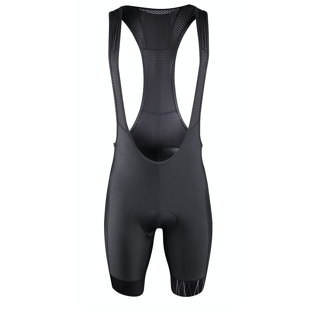FORCE F SHINE BIBSHORTS WITH PAD, BLACK S