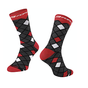**FORCE SQUARE SOCKS BLACK-RED L-XL/42-46