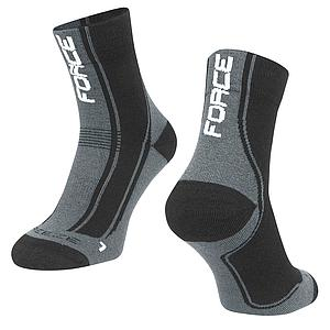 **FORCE FREEZE SOCKS BLACK/GREY S/M