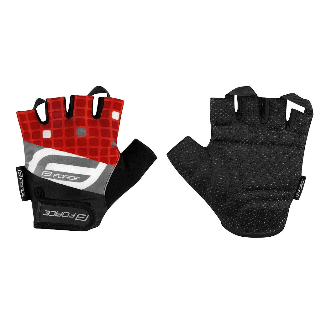 FORCE SQUARE MITTS RED MEDIUM