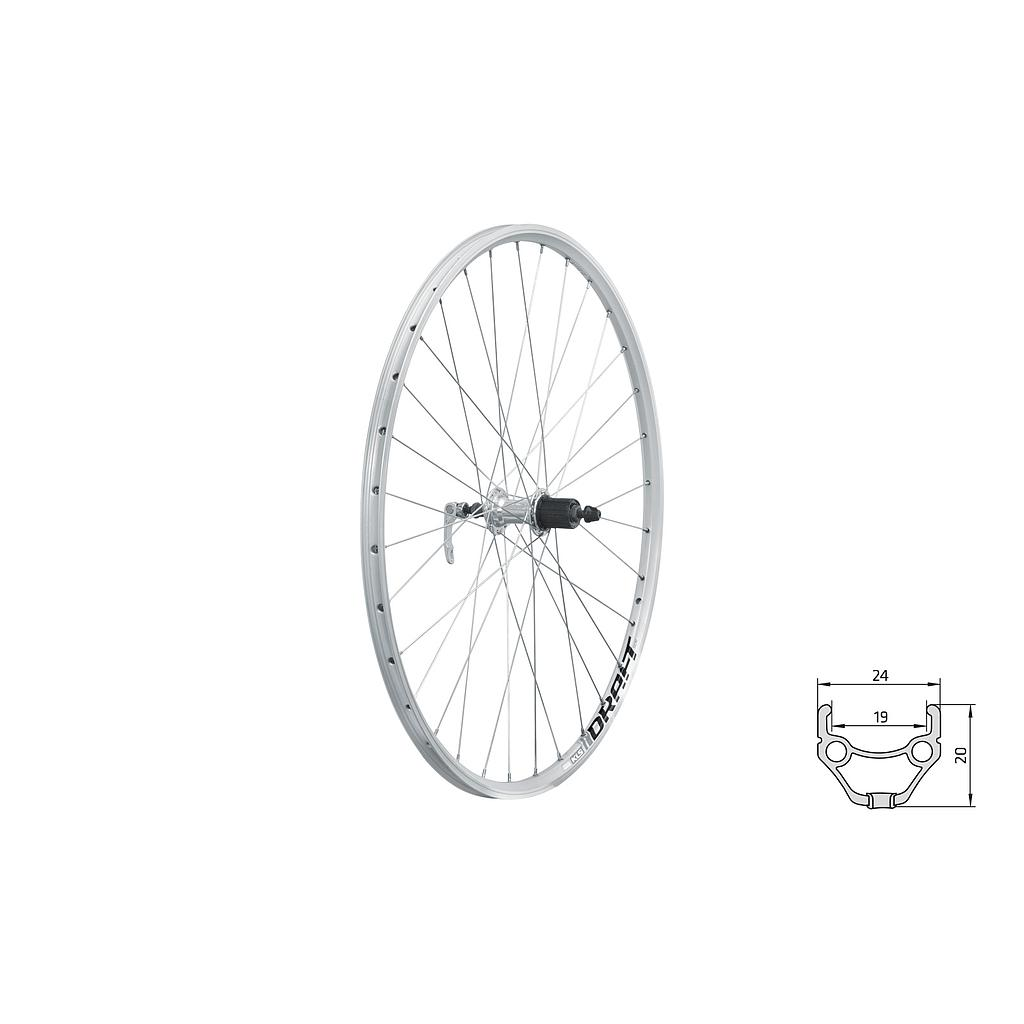 **KELLYS DRAFT REAR CASSETTE WHEEL SILVER 700c