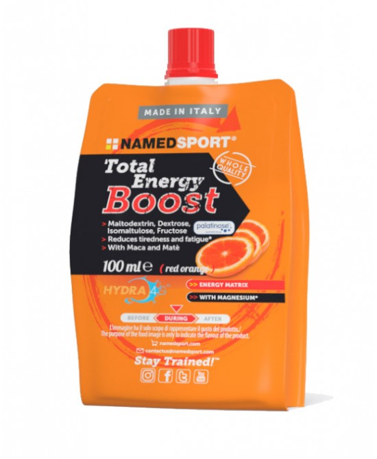 **NAMEDSPORT ENERGY BOOST RED ORANGE FLAVOR (BOX OF 18 100ml)