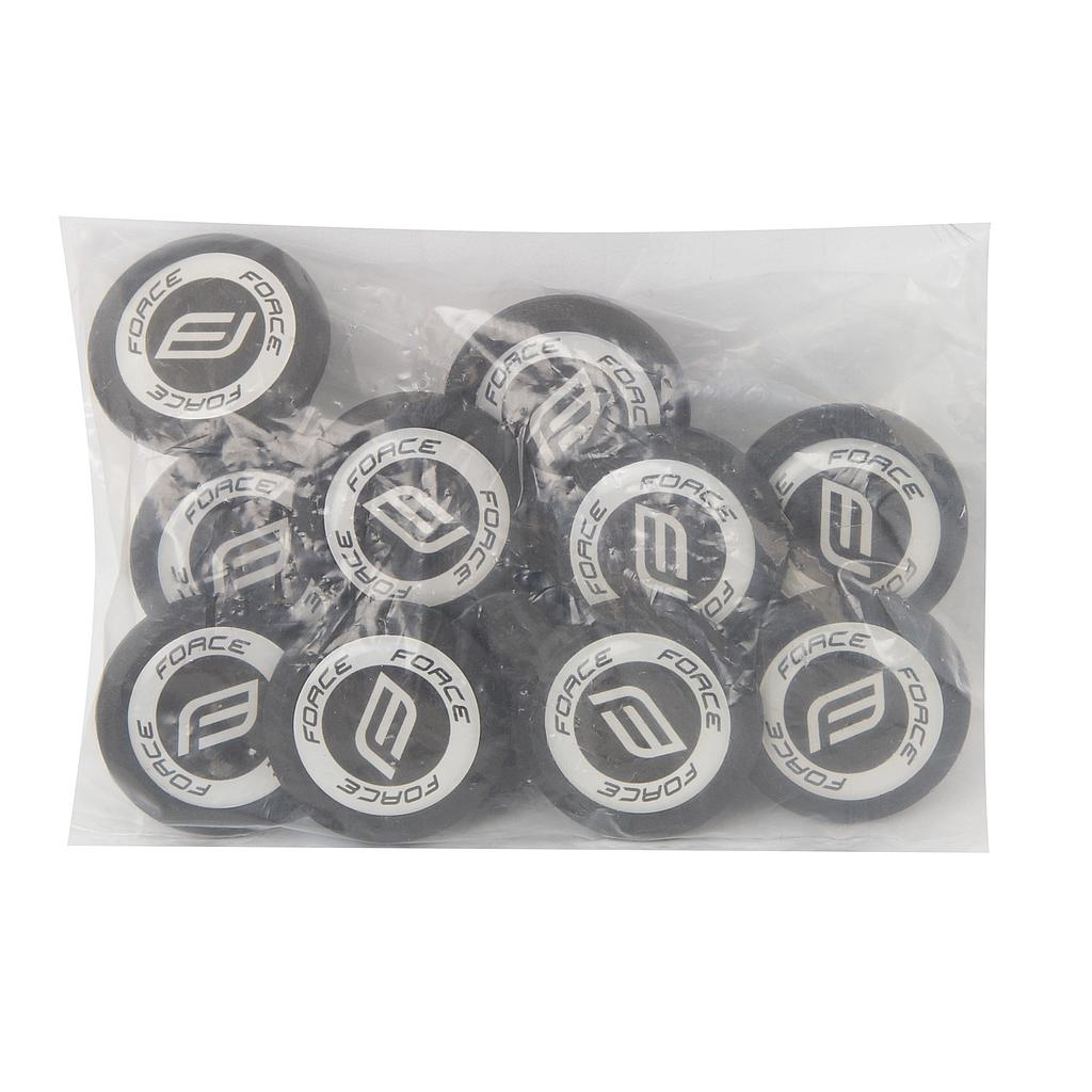 FORCE  BLACK H/BAR PLUGS (10 pieces )