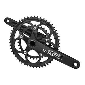 FORCE ROAD CHAINSET & B/B UNIT C9.5+ AL 50/34T 175MM, BLACK MATT