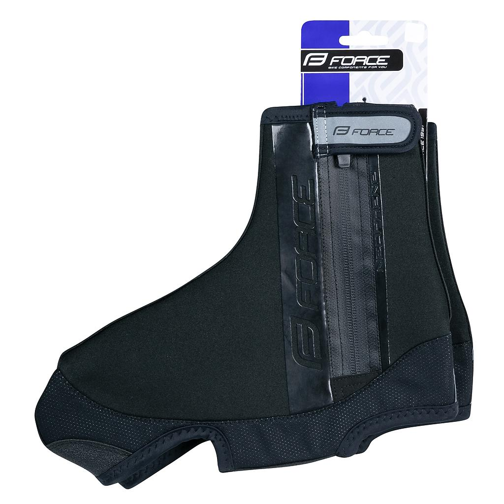 **FORCE NEOPRENE, SHOE COVERS MEDIUM BLACK